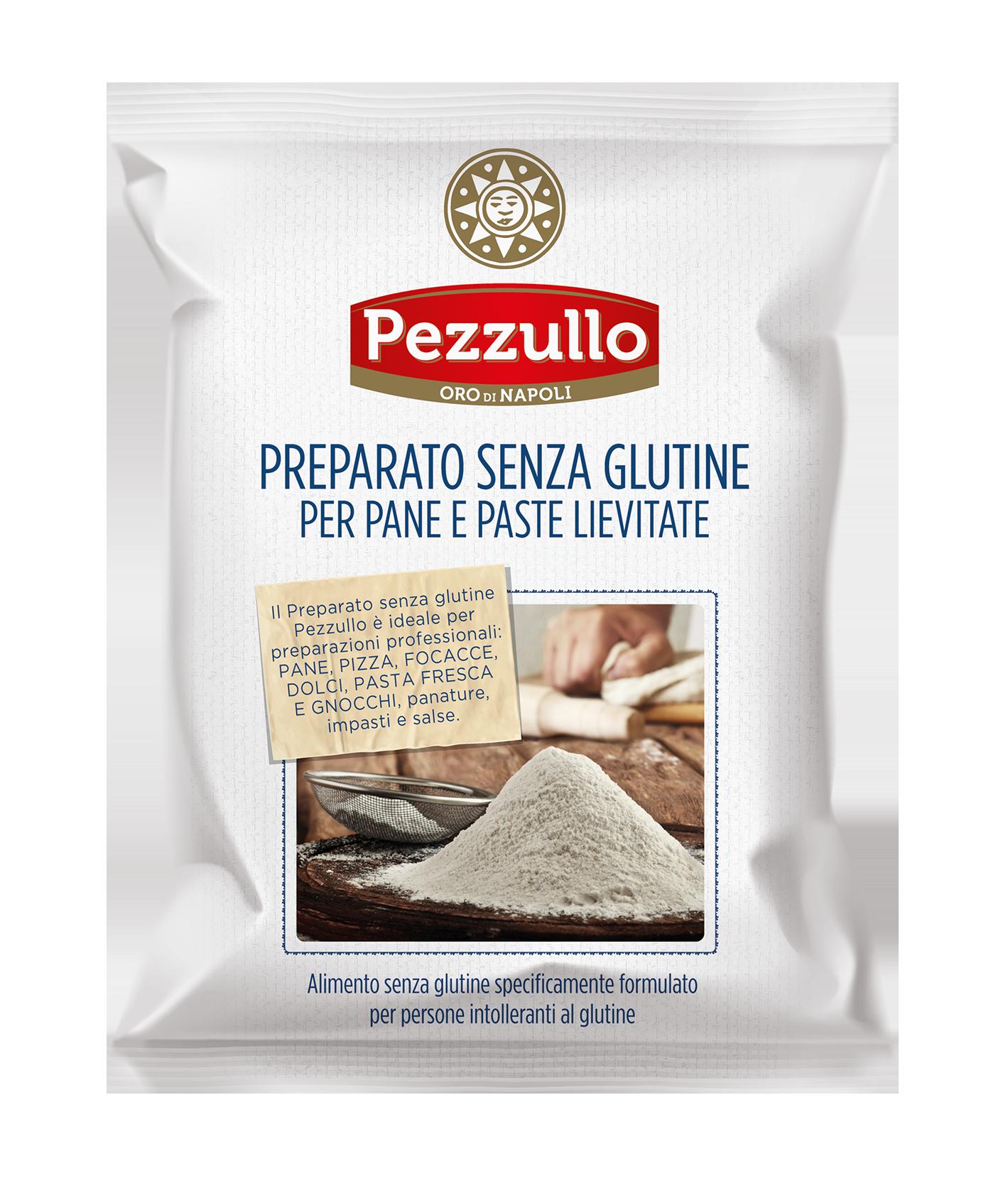 Preparato senza glutine per pane e paste lievitate